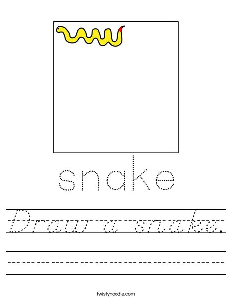 Draw a snake. Worksheet