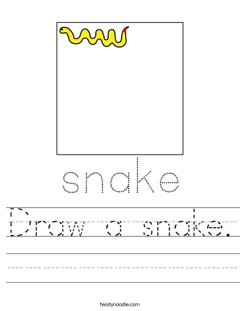 Draw a snake. Worksheet