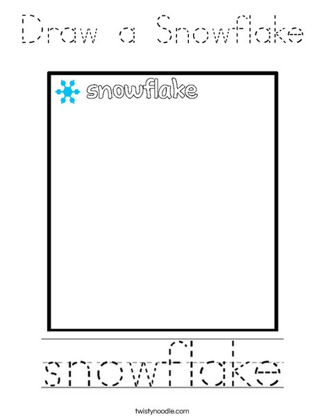Draw a Snowflake Coloring Page