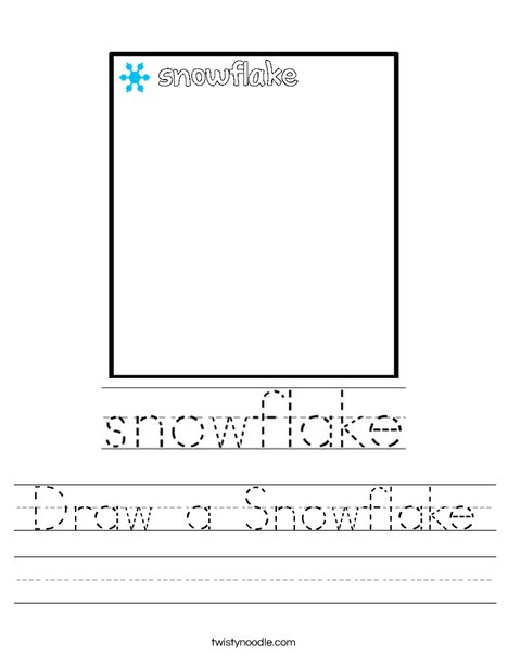 Draw a Snowflake Worksheet