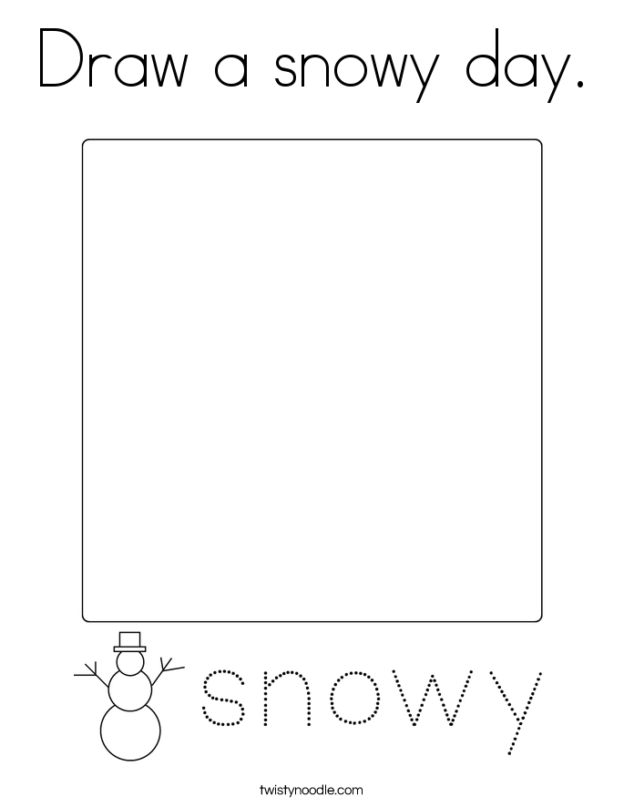 Draw a snowy day. Coloring Page