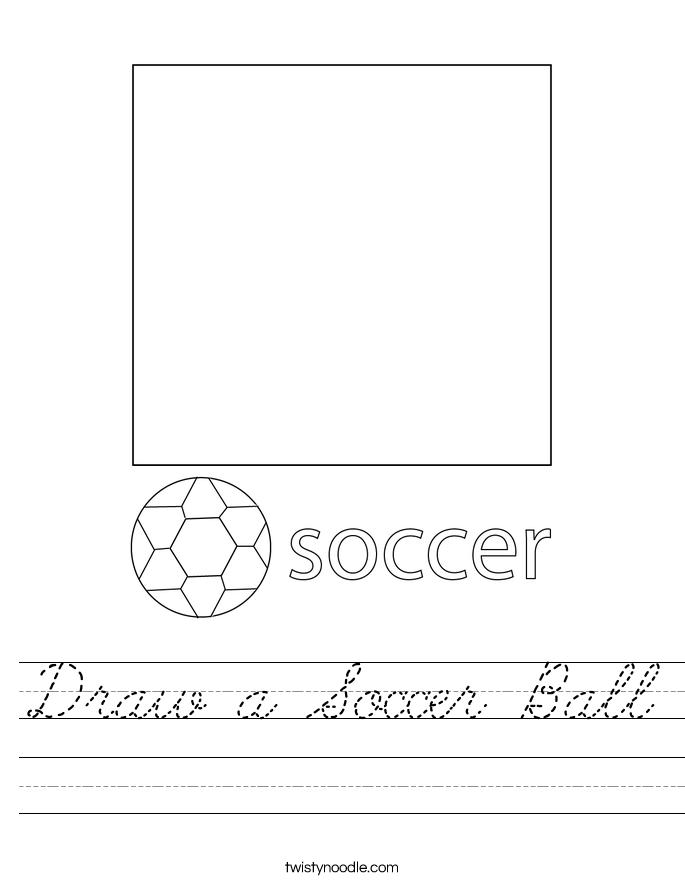 Draw a Soccer Ball Worksheet