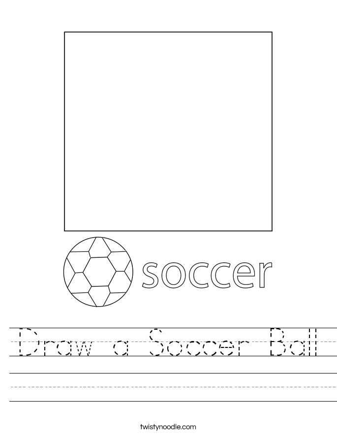 Draw a Soccer Ball Worksheet