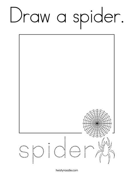 Draw a spider. Coloring Page