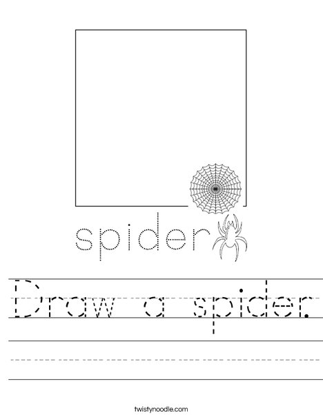 Draw a spider. Worksheet