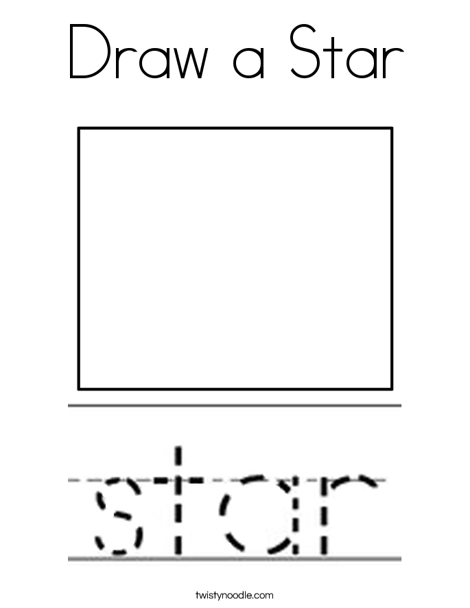 Draw a Star Coloring Page