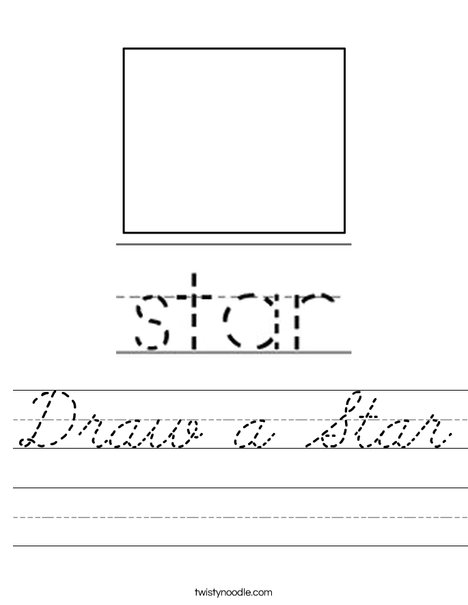 Draw a Star Worksheet
