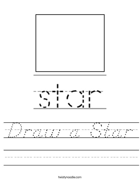 Draw a Star Worksheet