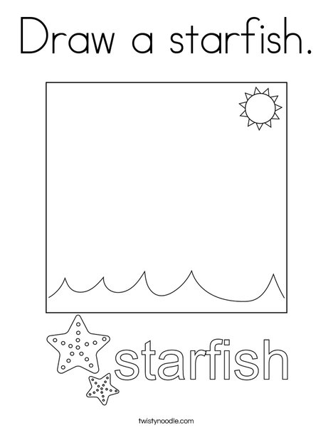 Draw a starfish. Coloring Page