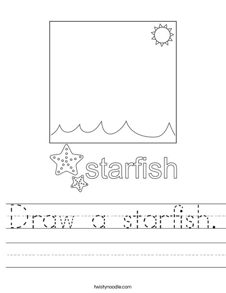 Draw a starfish. Worksheet