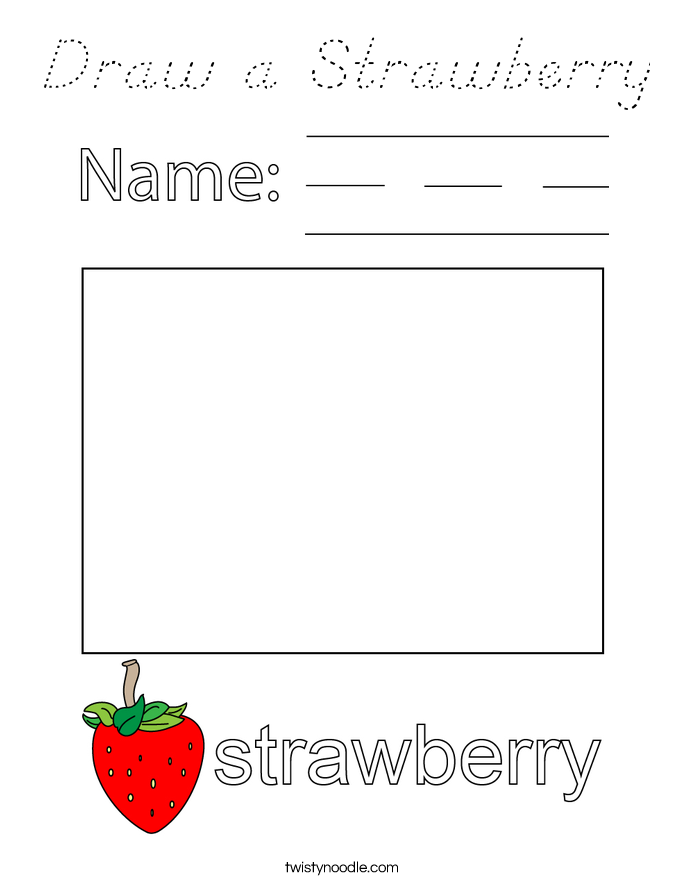 Draw a Strawberry Coloring Page