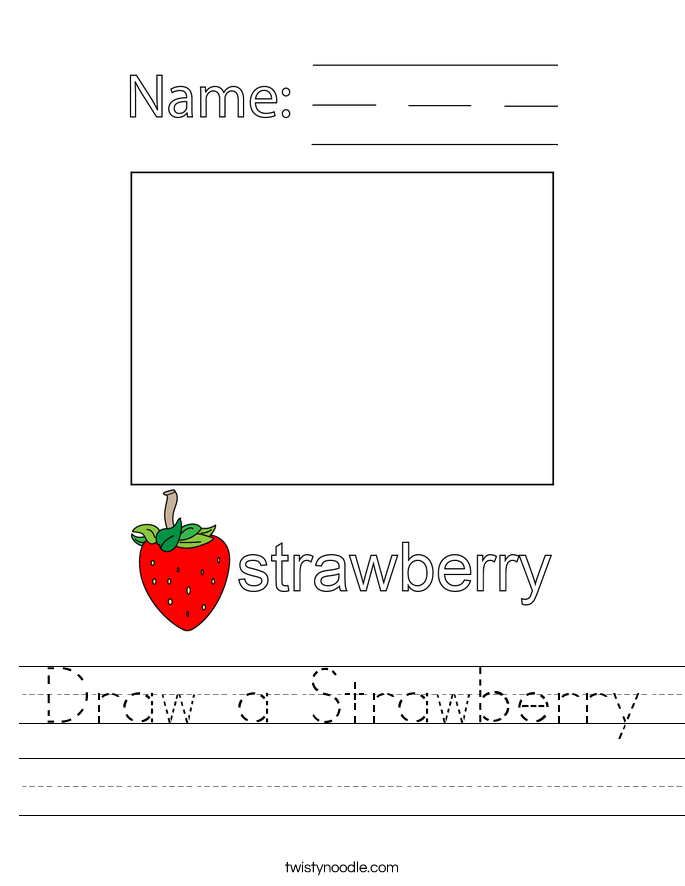 Draw a Strawberry Worksheet