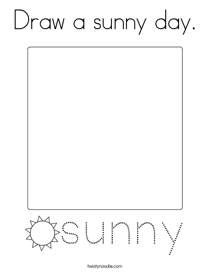 Draw a sunny day. Coloring Page
