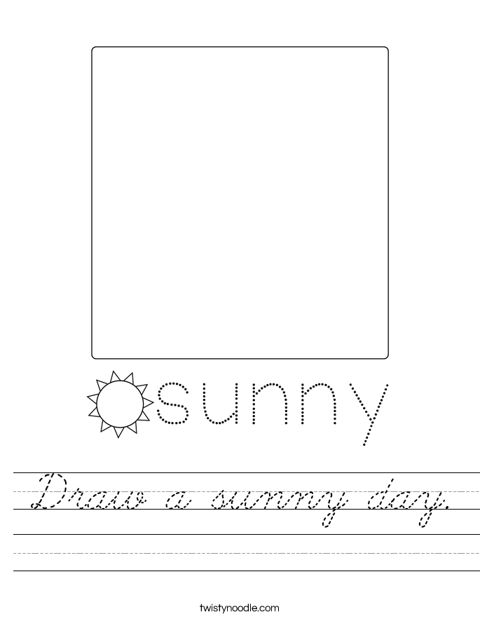Draw a sunny day. Worksheet
