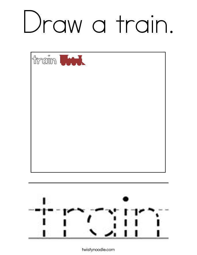 Draw a train. Coloring Page