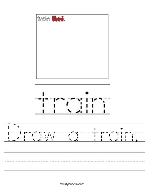 Draw a train. Worksheet