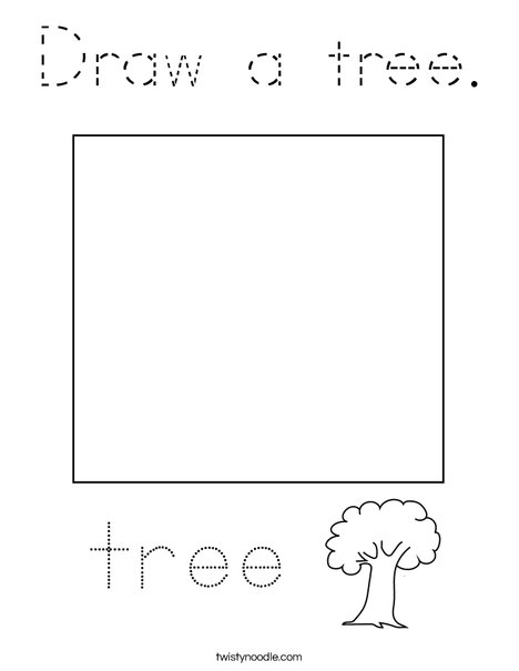 Draw a tree. Coloring Page