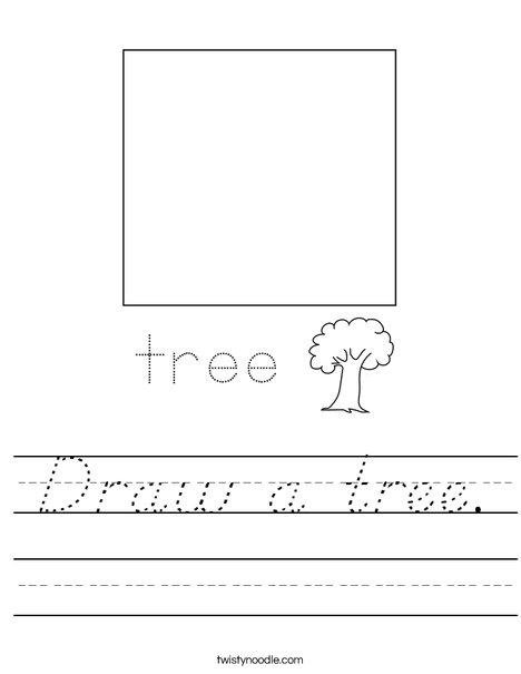 Draw a tree. Worksheet