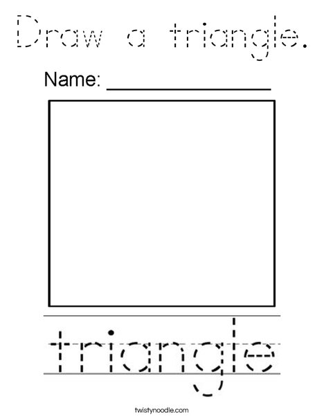 Draw a triangle. Coloring Page