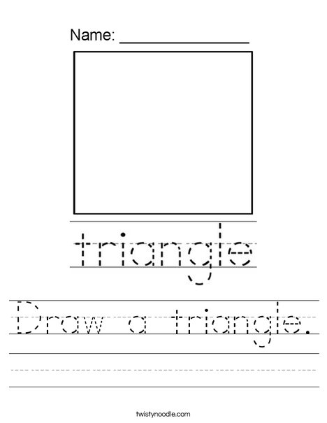 Draw a triangle. Worksheet