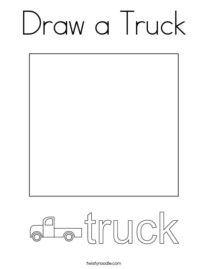 Draw a Truck Coloring Page