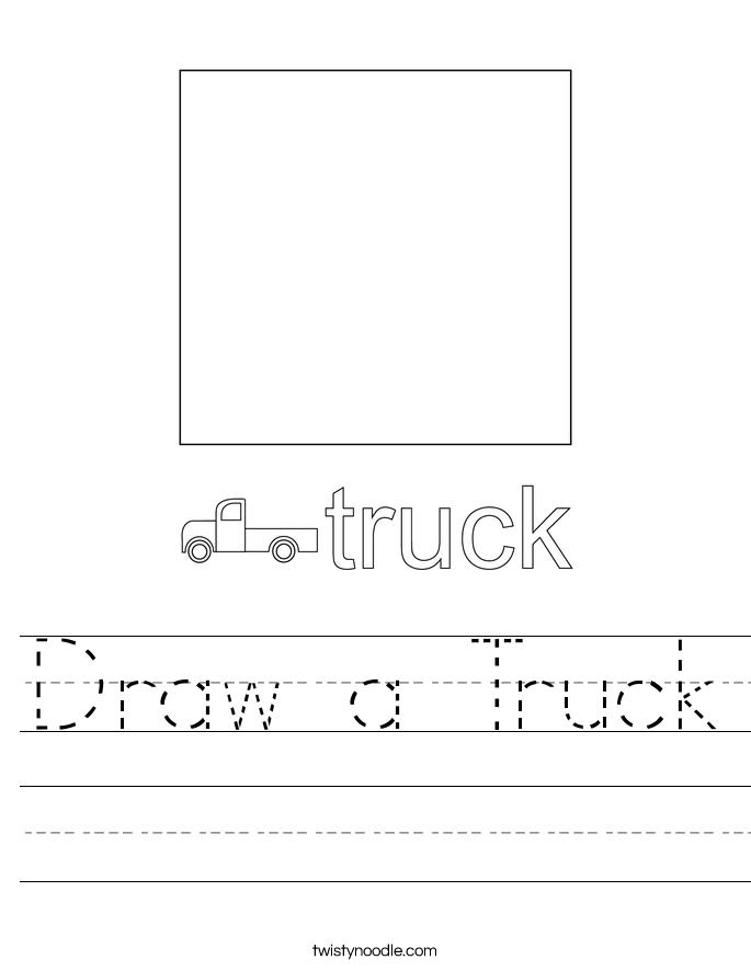 Draw a Truck Worksheet