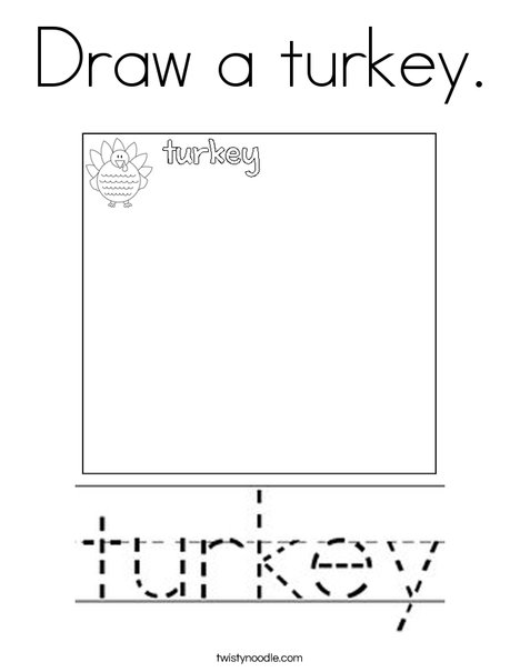 Draw a turkey. Coloring Page