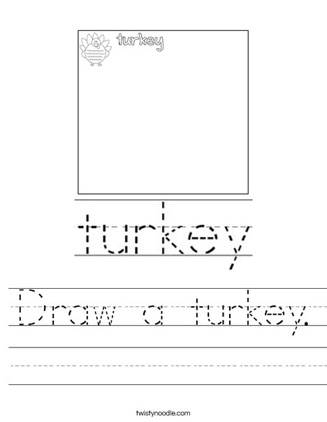 Draw a turkey. Worksheet