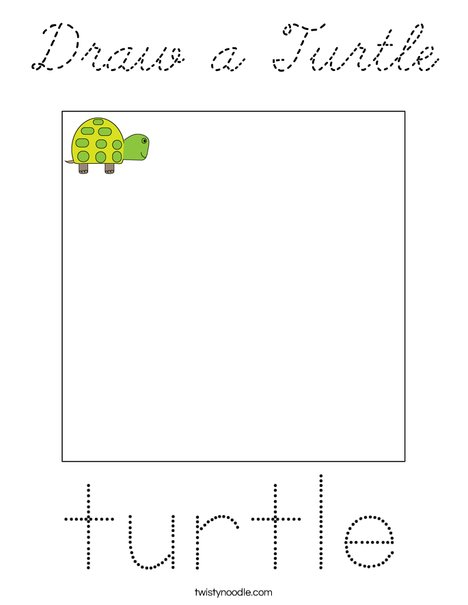 Draw a Turtle Coloring Page