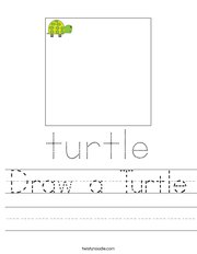 Draw a Turtle Handwriting Sheet
