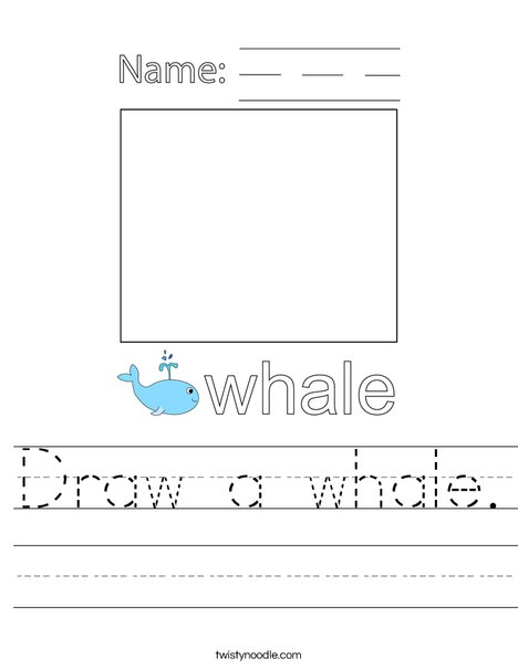 Draw a Whale Worksheet