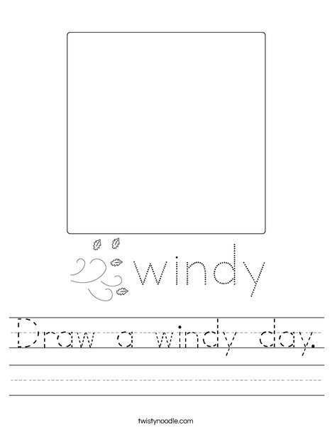 Draw a windy day. Worksheet