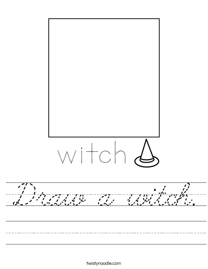 Draw a witch. Worksheet