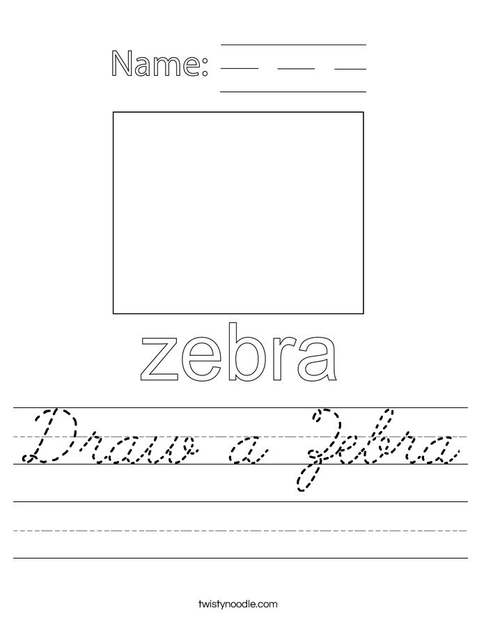 Draw a Zebra Worksheet