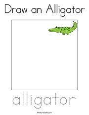 Draw an Alligator Coloring Page