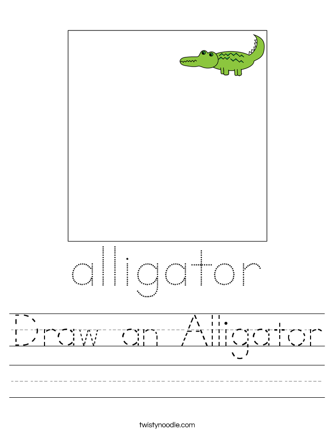 Draw an Alligator Worksheet