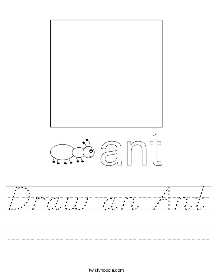 Draw an Ant Worksheet