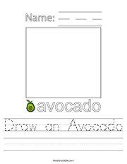 Draw an Avocado Handwriting Sheet