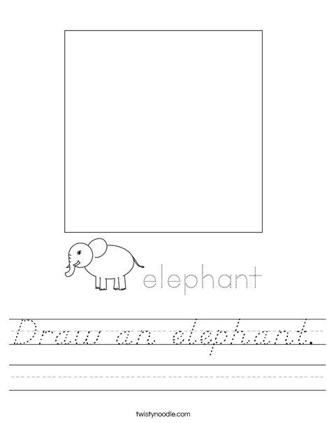 Draw an elephant. Worksheet