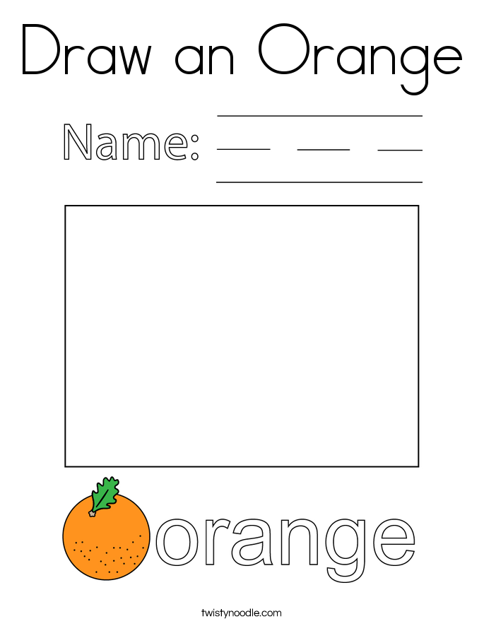 Draw an Orange Coloring Page