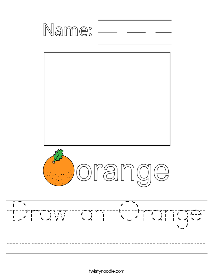 Draw an Orange Worksheet