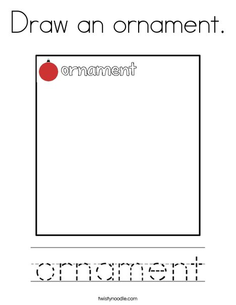 Draw an ornament. Coloring Page