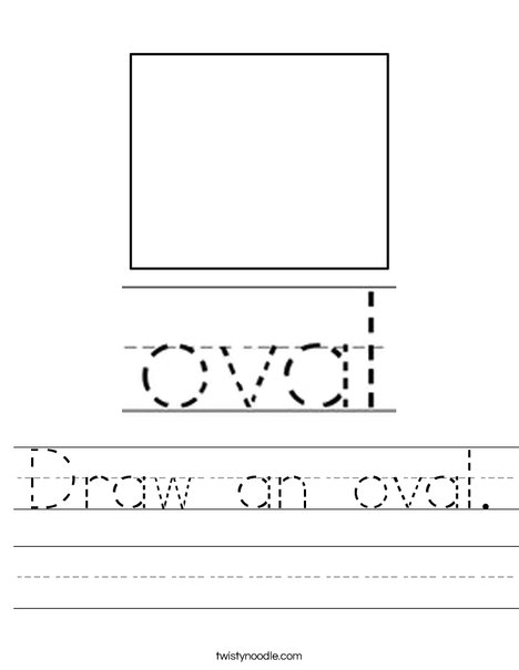 Draw an Oval Worksheet
