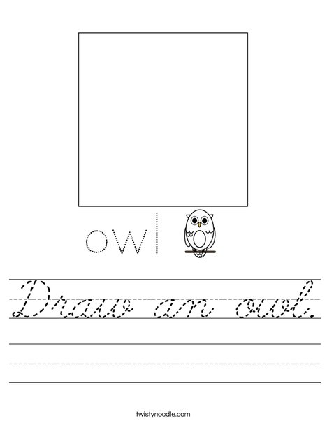 Draw an owl. Worksheet