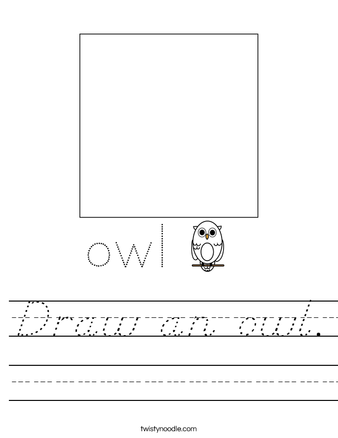 Draw an owl. Worksheet
