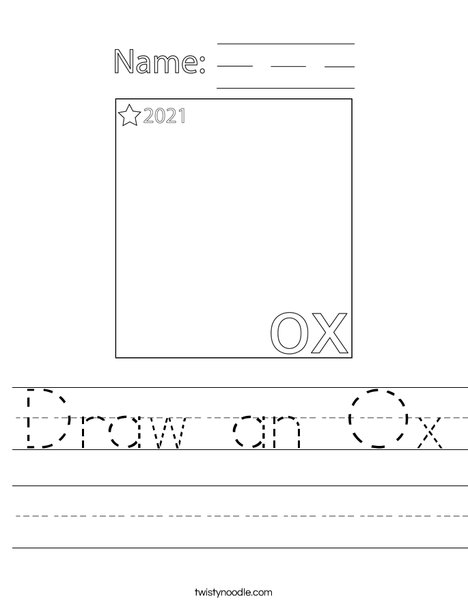 Draw an Ox Worksheet