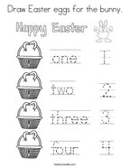 Draw Easter eggs for the bunny Coloring Page
