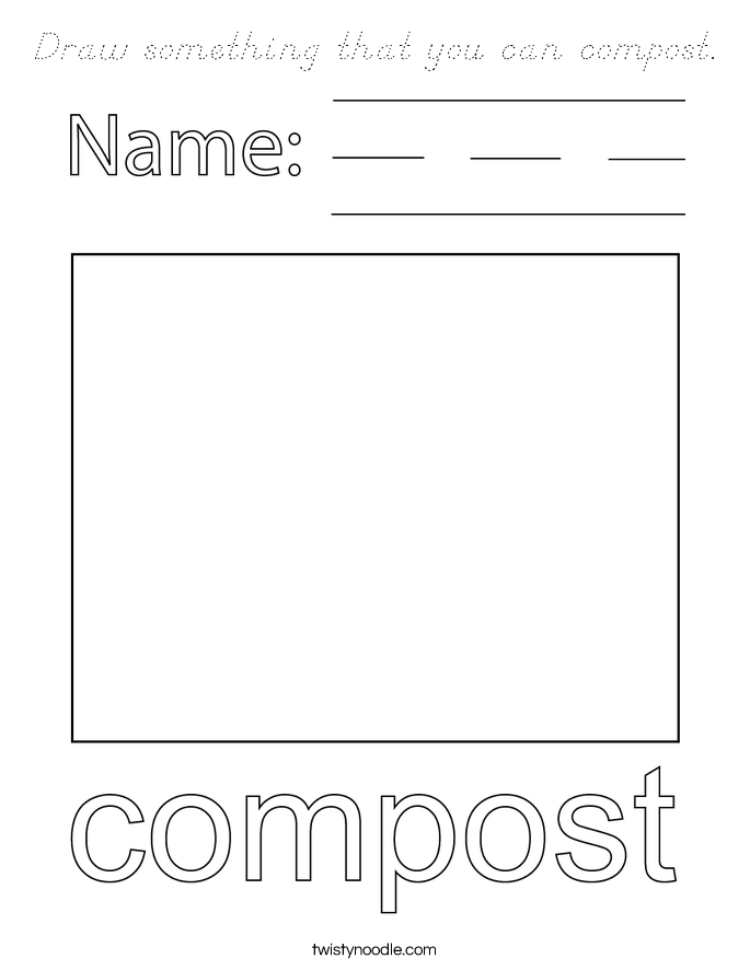 Draw something that you can compost. Coloring Page