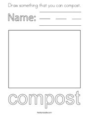 Draw something that you can compost Coloring Page