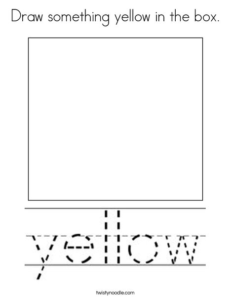 Draw something yellow in the box. Coloring Page
